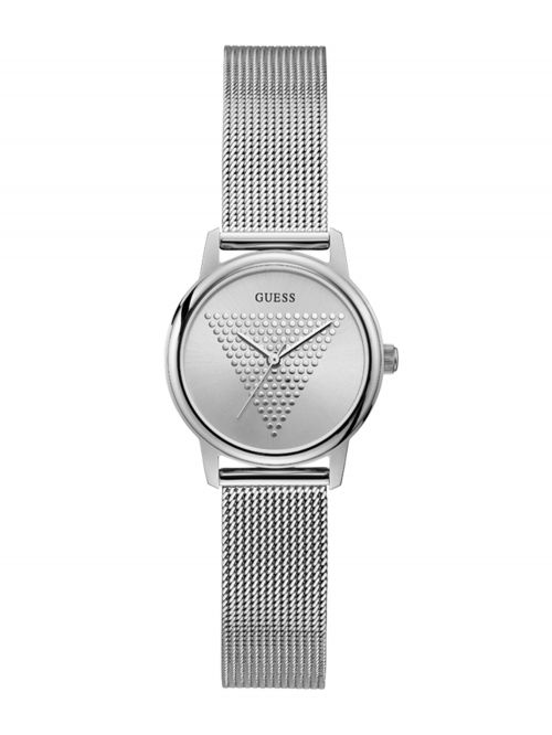 שעון יד GUESS לאישה בצבע כסוף קולקציית MICRO IMPRINT דגם GW0106L1