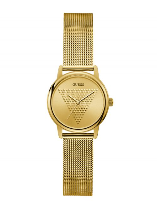 שעון יד GUESS לאישה בצבע זהב קולקציית MICRO IMPRINT דגם GW0106L2