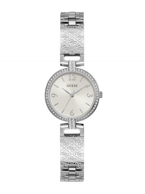 שעון יד GUESS לאישה בצבע כסוף קולקציית MINI LUXE דגם GW0112L1