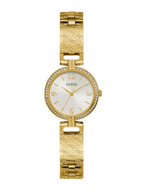 שעון יד GUESS לאישה בצבע זהב קולקציית MINI LUXE דגם GW0112L2