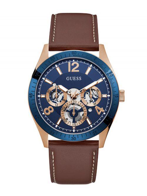 שעון יד GUESS לגבר עם רצועת עור קולקציית VECTOR דגם GW0216G1