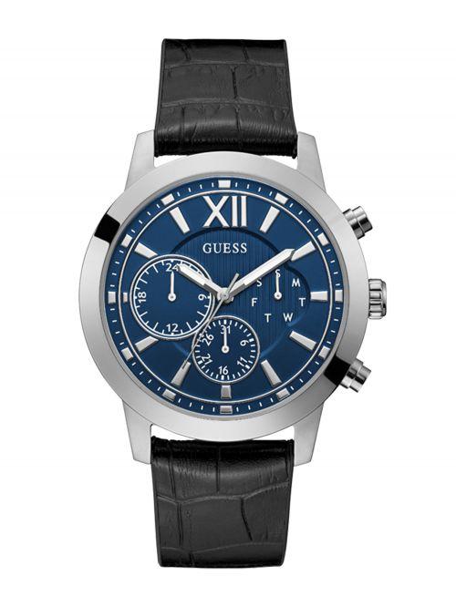 שעון יד GUESS לגבר עם רצועת עור קולקציית MERCURY דגם GW0219G1