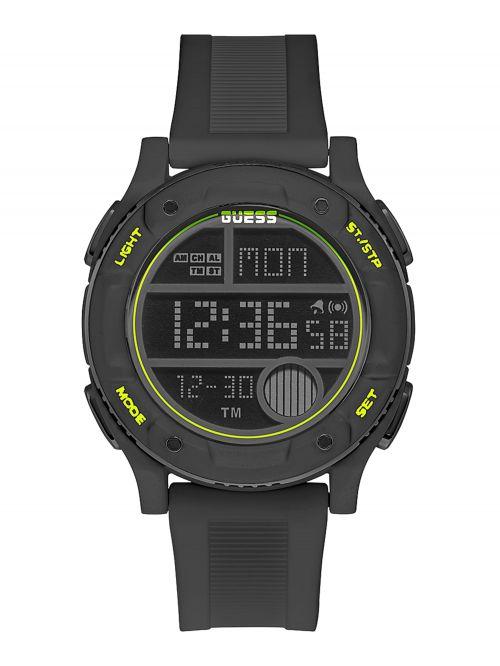 שעון יד דיגיטלי GUESS לגבר עם רצעות סיליקון דגם GW0225G3