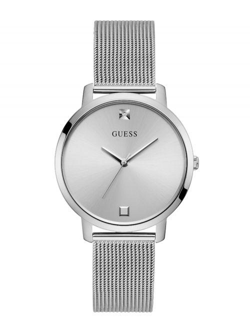 שעון יד GUESS לאישה קולקציית NOVA בצבע כסף דגם GW0243L1