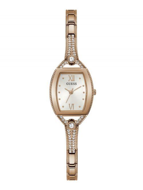 שעון יד GUESS לאישה קולקציית BELLA  עם רצועת מתכת בצבע רוז-גולד דגם GW0249L3