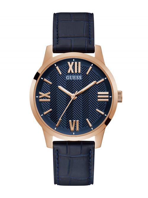 שעון יד GUESS לגבר קולקציית CAMPBELL עם רצועת עור דגם GW0250G3