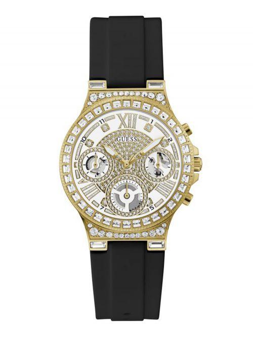 שעון יד GUESS לאישה עם רצועת סיליקון בצבע שחור קולקציית SPORT דגם GW0257L1