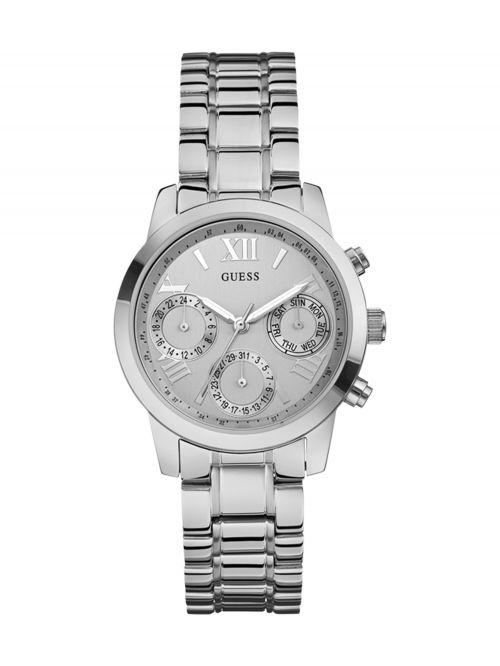 שעון יד GUESS לאישה עם רצועת מתכת קולקציית MINI SUNRISE דגם W0448L1