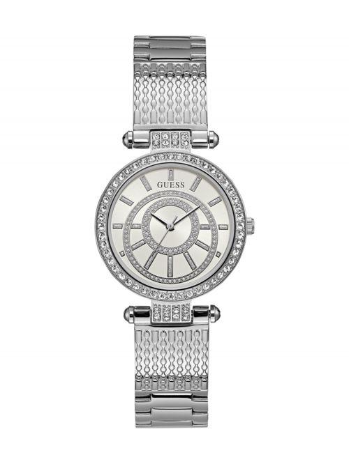 שעון יד GUESS לאישה עם רצועת מתכת קולקציית MUSE דגם W1008L1