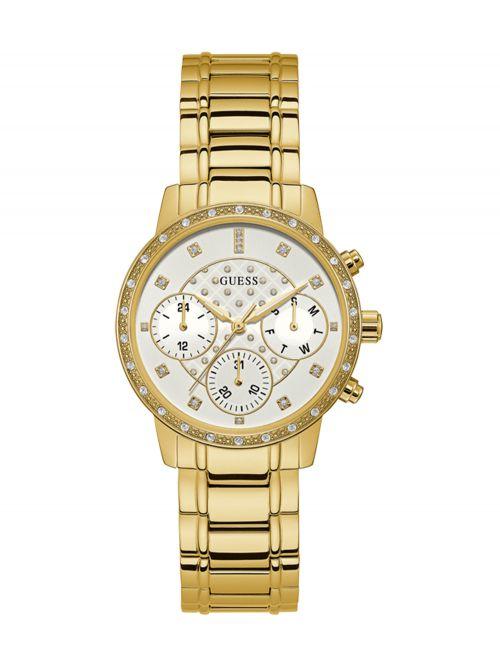 שעון יד GUESS לאישה קולקציית SUNNY עם רצועת מתכת דגם W1022L2