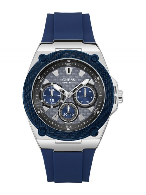 שעון יד GUESS לגבר עם רצועת סיליקון קולקציית LEGACY דגם W1049G1