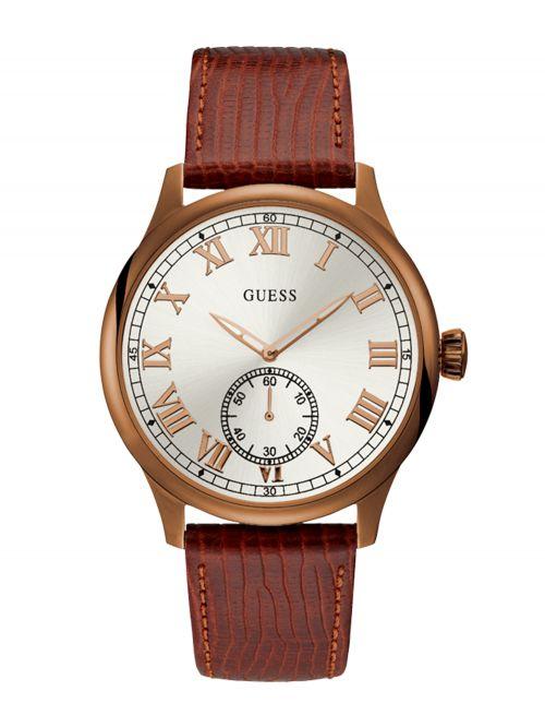 שעון יד GUESS לגבר עם רצועת עור קולקציית CAMBRIDGE דגם W1075G3