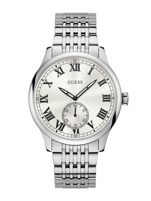 שעון יד GUESS לגבר עם רצועת מתכת קולקציית CAMBRIDGE דגם W1078G1