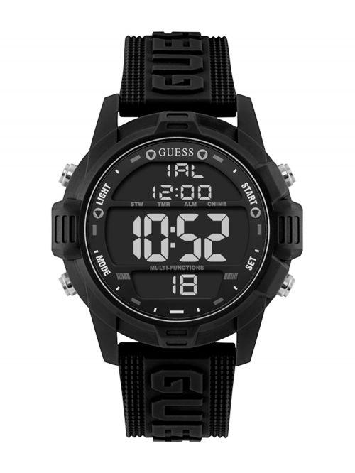 שעון יד דיגיטלי GUESS לגבר עם רצעות סיליקון דגם W1299G1