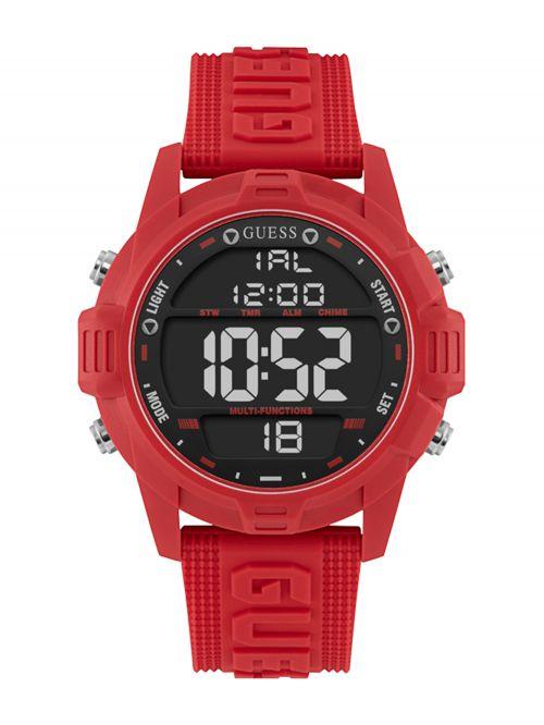 שעון יד דיגיטלי GUESS לגבר עם רצעות סיליקון דגם W1299G3