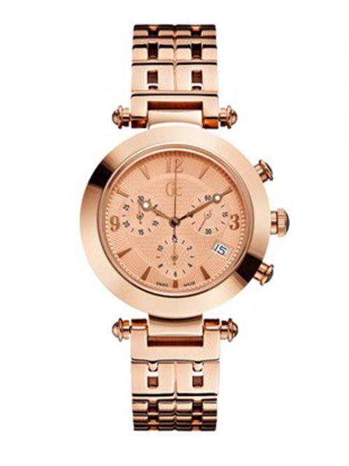 שעון יד לגבר GC עם רצועת מתכת בגווני כסף וברונזה דגם I47006M1