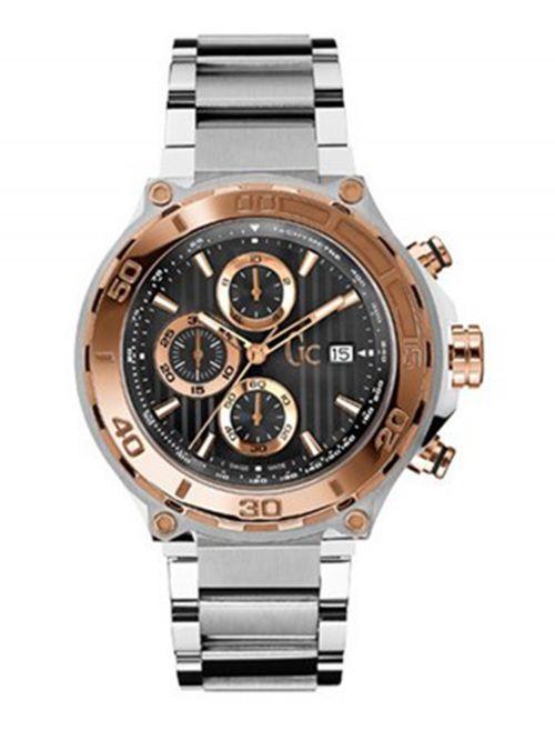 שעון יד לגבר מבית GC עם רצועת מתכת כסופה דגם X56008G2S