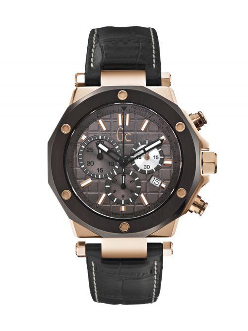 שעון יד GC שוויצרי לגבר עם רצועת עור קולקציית GC-3 דגם X72024G5S