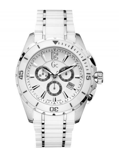 שעון יד שוויצרי GC לגבר עם רצועת קרמיקה בצבע לבן דגם X76001G1S