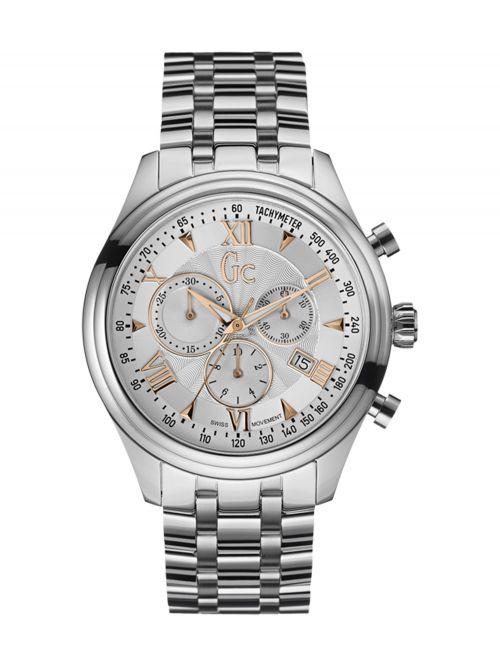 שעון יד GC שוויצרי לגבר עם רצועת מתכת קולקציית SmartClass דגם Y04006G1