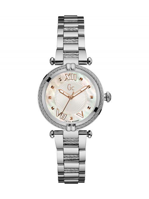 שעון יד GC עם מנגנון שוויצרי לאישה קולקציית CABLE CHIC דגם Y18001L1