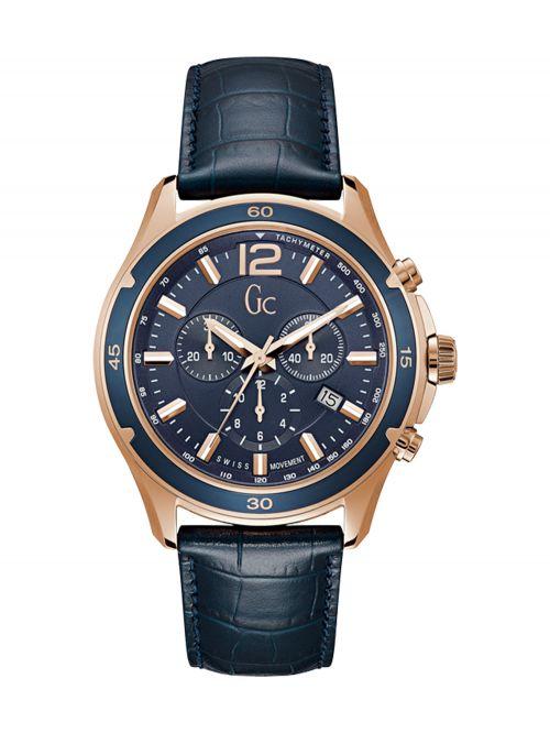 שעון יד GC שוויצרי לגבר עם רצועת עור קולקציית Alunination דגם Y26001G7