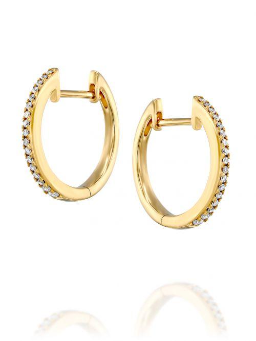עגילי זהב  NAOMI משובצות יהלומים