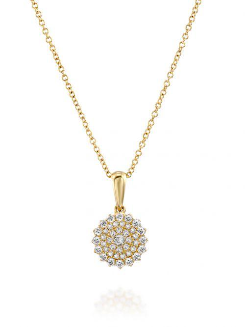 תליוןANASTHASIA  זהב 14 קארט משובץ  41 יהלומים 0.21 קארט G-SI