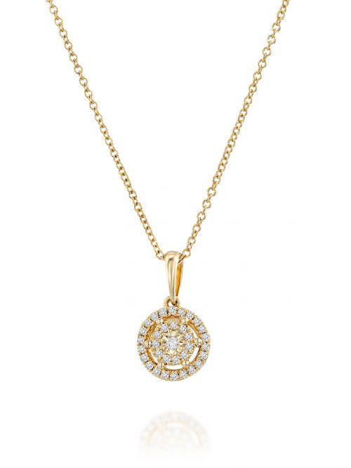 תליון ANASTHASIA  זהב 14 קארט 34 יהלומים 0.11 קארט G-SI