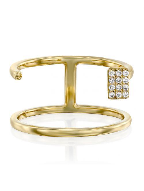 טבעת זהב CECILE משובצת יהלומים