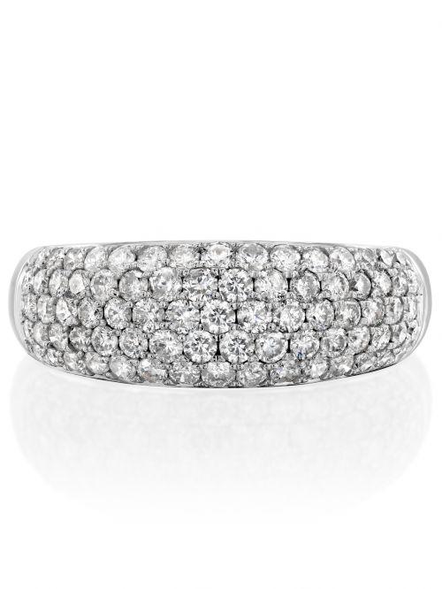 טבעת זהב לבן MARGARET   משובצת יהלומים