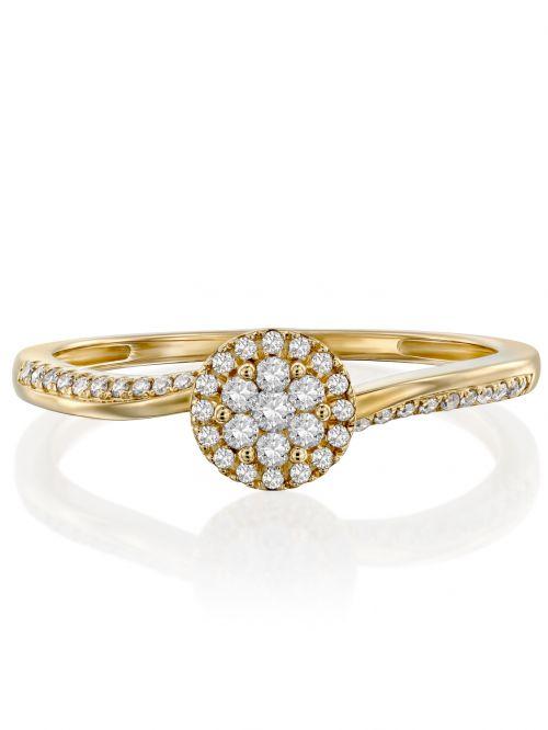 טבעת זהב Charlotte משובצת יהלומים