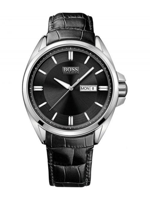 שעון יד HUGO BOSS לגבר עם רצועת עור דגם 1512874