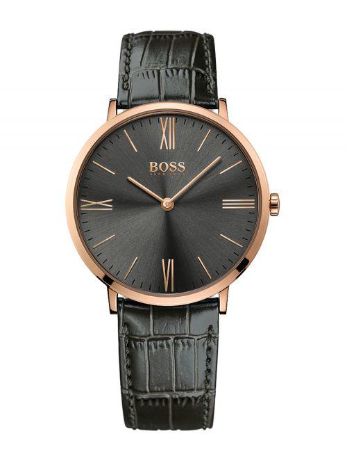 שעון יד HUGO BOSS לגבר עם רצועת עור קולקציית JACKSON דגם 1513372