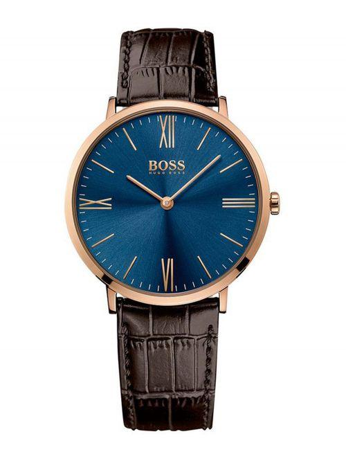 שעון יד HUGO BOSS לגבר עם רצועת עור קולקציית JACKSON דגם 1513458