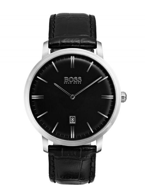 שעון HUGO BOSS לגבר עם רצועת עור קולקציית TRADITION דגם 1513460