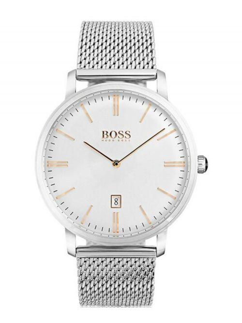 שעון יד HUGO BOSS לגבר עם רצועת מש קולקציית TRADITION דגם 1513481