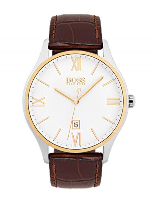 שעון יד HUGO BOSS לגבר עם רצועת עור קולקציית GOVERNOR דגם 1513486