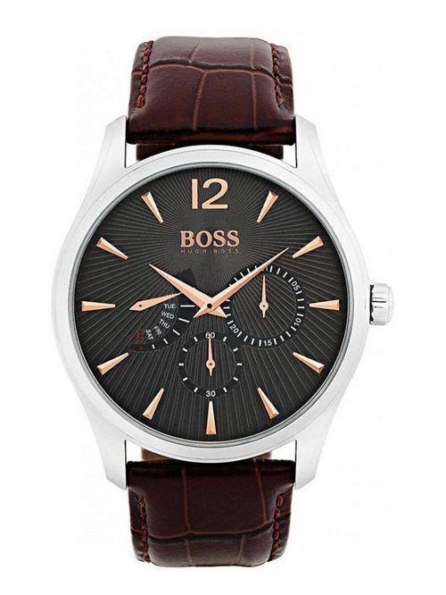 שעון יד HUGO BOSS לגבר עם רצועת עור קולקציית COMMANDER דגם 1513490