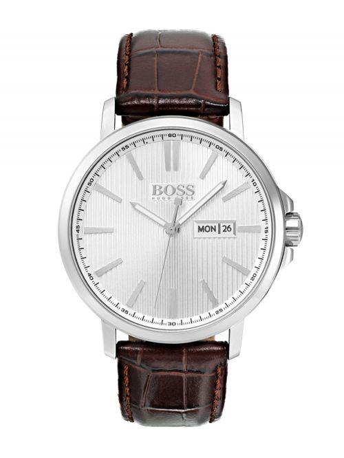 שעון יד HUGO BOSS לגבר עם רצועת עור קולקציית THE JAMES דגם 1513532
