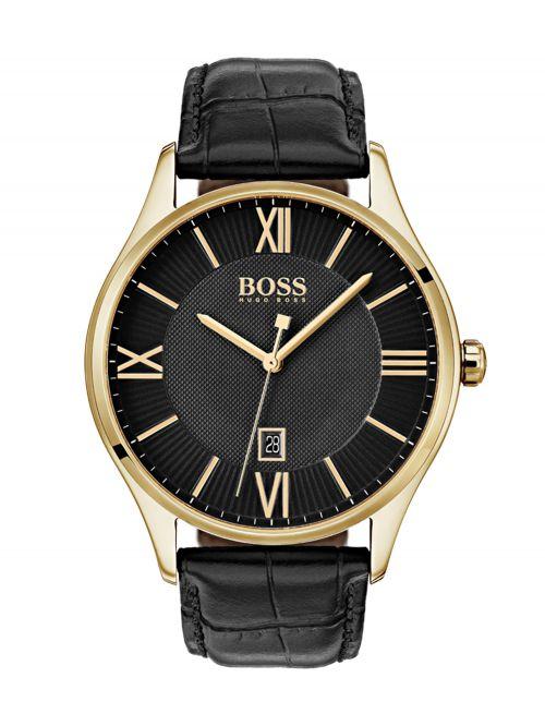 שעון יד HUGO BOSS לגבר עם רצועת עור קולקציית GOVERNOR דגם 1513554