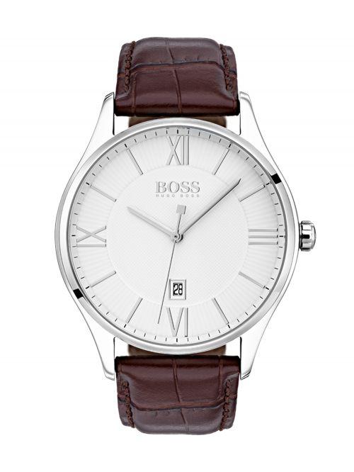 שעון יד HUGO BOSS לגבר עם רצועת עור קולקציית GOVERNOR דגם 1513555