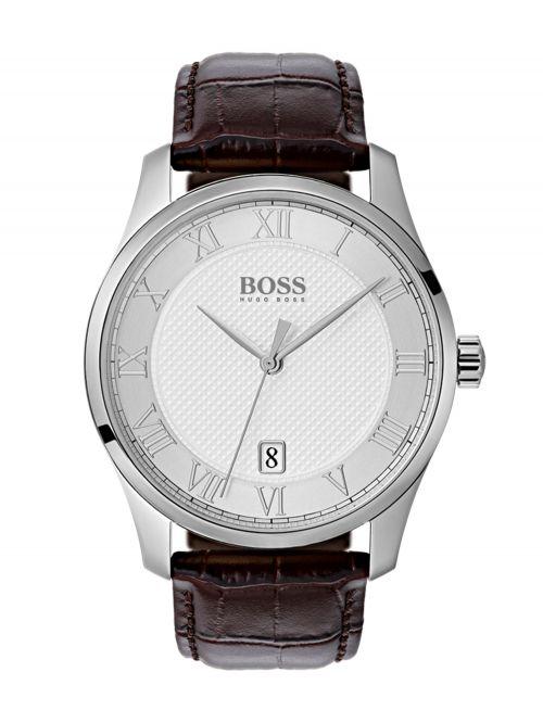 שעון יד HUGO BOSS לגבר עם רצועת עור קולקציית MASTER דגם 1513586