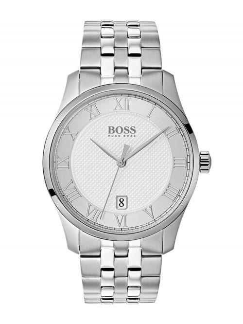 שעון יד HUGO BOSS לגבר עם רצועת מתכת קולקציית MASTER דגם 1513589