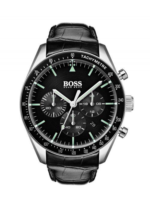 שעון יד HUGO BOSS לגבר עם רצועת עור דגם 1513625