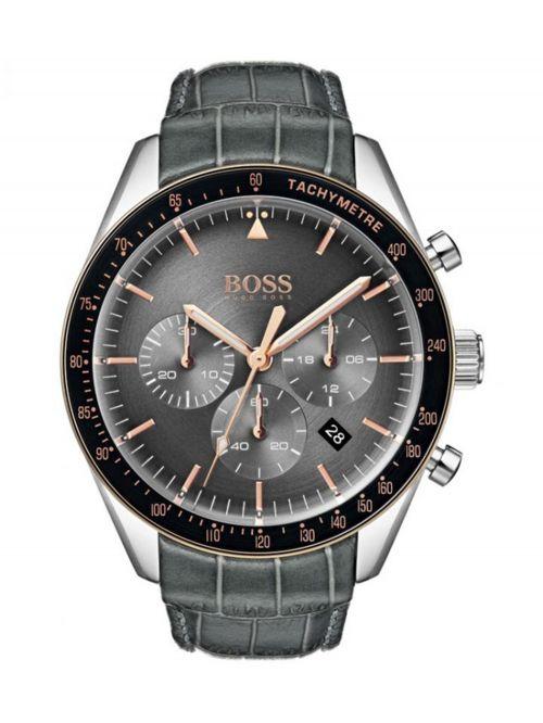 שעון יד HUGO BOSS לגבר עם רצועת עור קולקציית TROPY דגם 1513628
