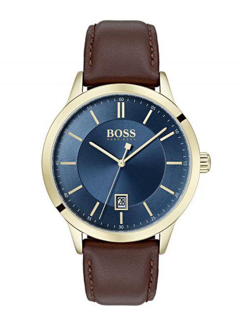 שעון יד HUGO BOSS לגבר עם רצועת עור דגם 1513685