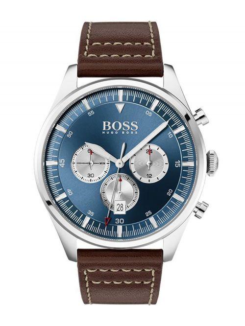 שעון יד HUGO BOSS לגבר עם רצועת עור קולקציית PIONNER דגם 1513709