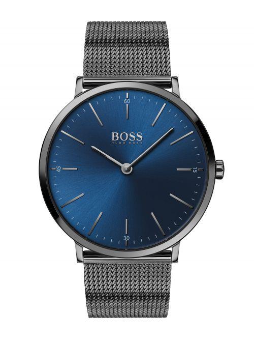 שעון יד לגבר HUGO BOSS רצועת מש אפורה דגם 1513734