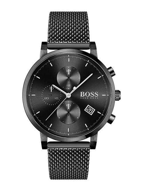 שעון יד HUGO BOSS לגבר עם רצועת מש דגם 1513813